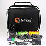 Aetertek AT-216S Waterproof 600 Yards 550m Range Remote Control 3 Dog Training Anti Bark Shock Collar Beep and Vibration