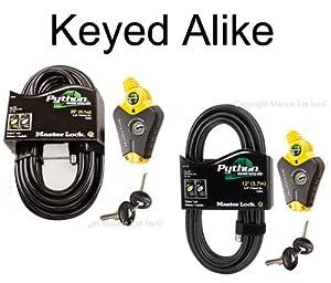 Master Lock - Python Adjustable Cable Locks 1-12ft 1-20ft