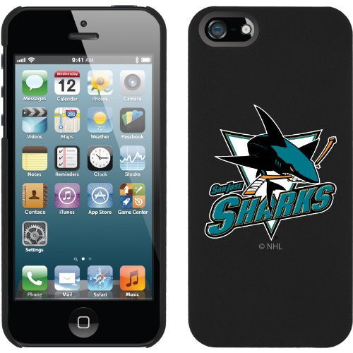 Great Price San Jose Sharks« - Shark with text design on a Black iPhone 5s / 5 Thinshield Snap-On Case by Coveroo