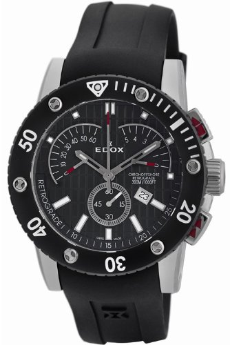 Edox Class 1 Chronoffshore Retrograde Stainless Steel Mens Watch 01502-3N-NIN