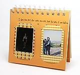 CAIUL TL-02 色違い、 ブラウン、可愛い、おしゃれ、友達への暖かいギフトの写真立て 50枚収納 FUJIFILM ポケットアルバチェキ フィルム instax mini 50s/ 7s/ 25/ 8/ 90 instax sp-1 printer,pringo 231, Polaroid PIC-300P , Polaroid Z2300 10MP 適用 オレンジ