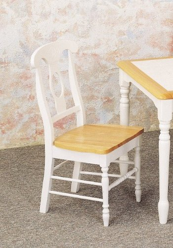 Set of 2 White Napoleon Style Dining Chairs
