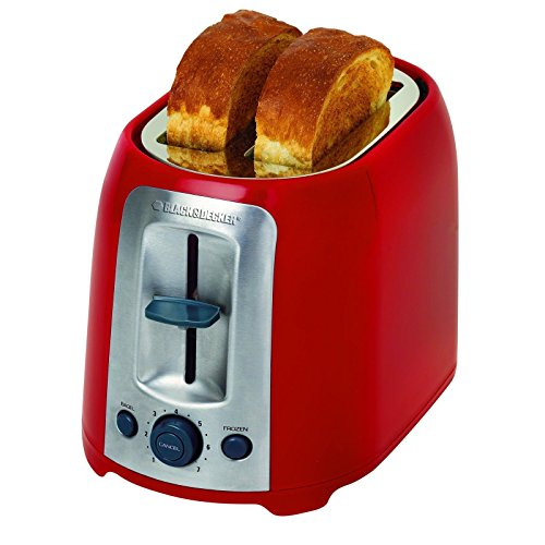 N New 2-Slice Extra Wide Slot Bagel Toaster Red Dorm Apartment