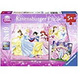 Disney Princess - Puzzle, 3 x 49 piezas (Ravensburger 09277 2)