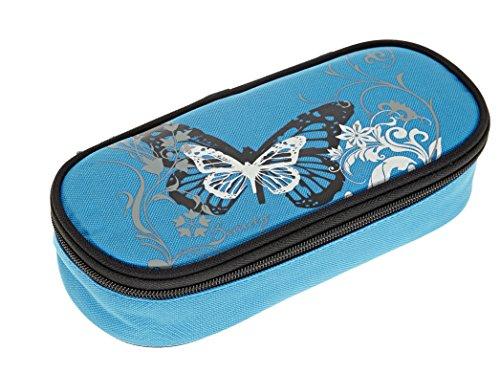 Beauty Butterfly Mäppchen Etuibox Federmäppchen Schülermäppchen Türkis