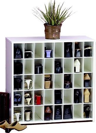 Women's Shoe Rack By Cubbies Unlimited: Open Unit W/ 40Pr, White 040
