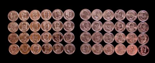 Presidential Dollar Set Full Complete Through 2012 P & D 48 Coins (Through Cleveland 2Nd Term)