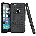 iPhone 6 Case - [Super Protective] Apple iPhone 6 (4.7 inch) case - BUDDIBOX Durable Dual Layer Robust Case with Kickstand for iPhone 6, (Black)