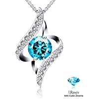 J.Rosee The Eye of Lover Blue Heart Necklace