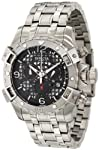 Invicta Men's 1229 Specialty Sea Thunder Chronograph Black Dial Stainless Steel Watch by Invicta