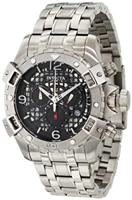 Invicta Men's 1229 Specialty Sea Thunder Chronograph Black Dial Stainless Steel Watch