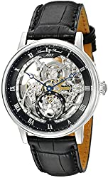 Lucien Piccard Men's LP-40013A-01 Quantum Stainless Steel Automatic Watch with Black Leather Band