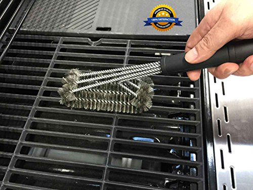 Bbq grill brush heavy duty 360 clean 18 best barbecue grill cleaner 3 stainless steel Weber exterior grill cleaner