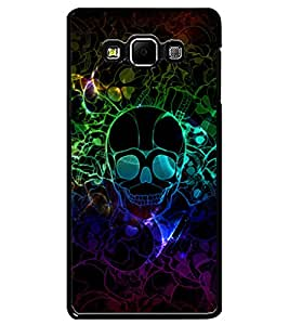 ColourCraft Skull Image Design Back Case Cover for SAMSUNG GALAXY A7