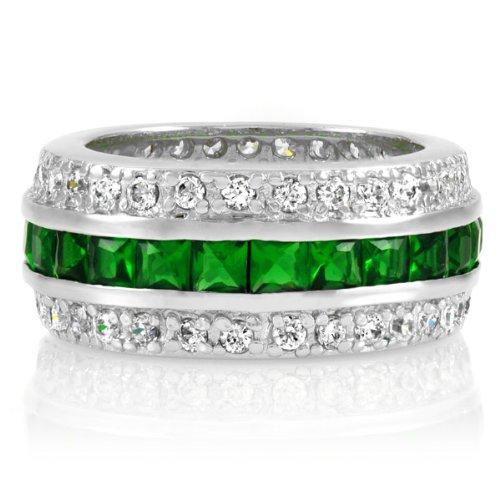 Majesty CZ Eternity Band Ring - Emerald - Final Sale