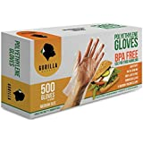 500 BPA Free Disposable Poly PE Gloves Medium, Food Grade