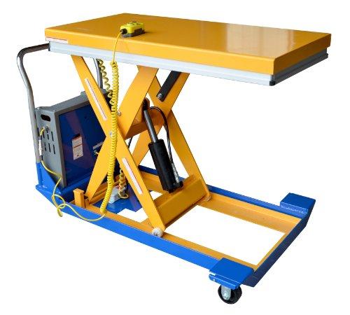 "Vestil Cart-24-15-Dc 12V Dc Power Scissor Cart, 1500 Lbs Capacity, 48"" Length X 24"" Width Platform, 9-1/4"" - 42-1/2"" Height Range"