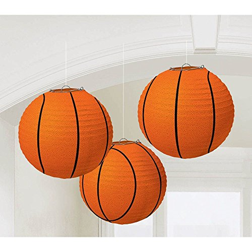 BasketBall Paper Lantern Decoration-3 piece
