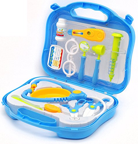 Little-Treasures-Medical-Doctor-Play-Set-excellent-equipped-medical-set-up-for-3-preschooler-kids-who-enjoy-simulating-medical-feel-w-stethoscope-shaped-tray-otoscope-surgical-scissors-and-more