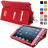 Snugg® iPad Mini & iPad Mini 2 Case - Executive Smart Cover With Card Slots & Lifetime Guarantee (Red Leather) for Apple iPad Mini & iPad Mini 2