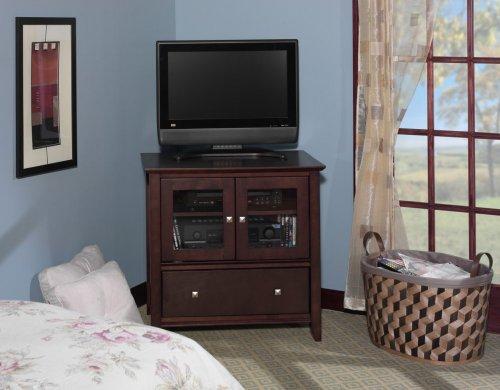Bush Furniture Sonoma Small TV Stand, Mocha Cherry Veneer