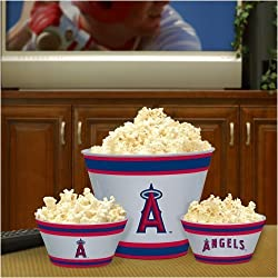 Los Angeles Angels Memory Company Team Melamine 3-Piece Bowl Set MLB Baseball Fan Shop Sports Team Merchandise