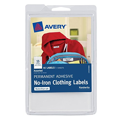 2 pack avery no iron clothing labels white assorted pack of 45 40700 656729987162 - How to unwrinkle your clothes with no iron ...