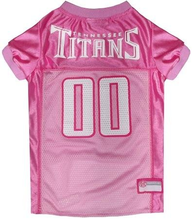 Pets First NFL Tennessee Titans Pet Jersey, Pink, Small