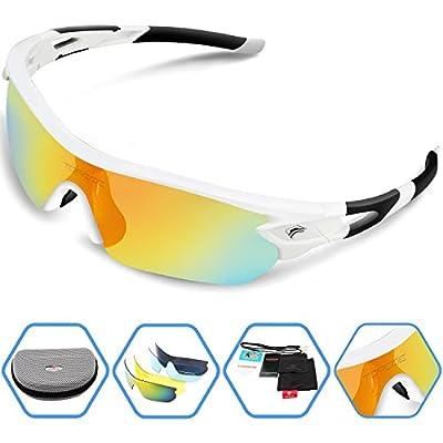 Torege Sports Sunglasses Polarized Glasses for Men Women Cycling Running Fishing Golf TRG002