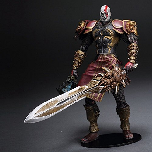 God of War 2 Video Game Action Figures Collection Model Series 1 Kratos with Ares Armor 7 Inches