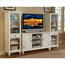 Hot Sale Home Style 5543-34 Bermuda 3-Piece Entertainment Center, Brushed White Finish