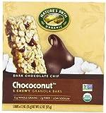 Nature's Path Organic Granola Bars,Dark Chocolate Chip  Chococonut,1.2 oz- 5 Count Bars (Pack of 6)