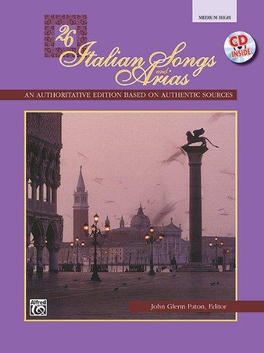 Twenty Six Italian Songs and Arias : Medium High (Book & CD)