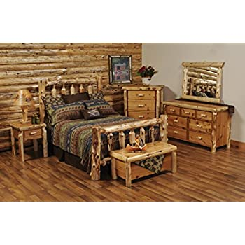 Fireside Lodge Furniture 10040 Traditional Cedar Queen Complete Bed