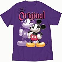 The Original Mickey Mouse Womens T Shirt (L, Purple)
