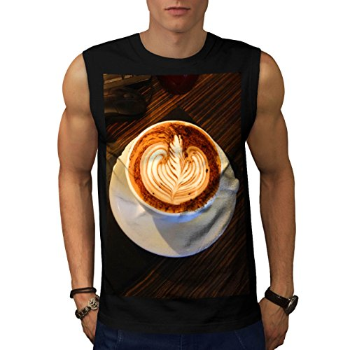 Tazza Di Caffè Energia Bere Uomo Nuovo Nero S T-Shirt Senza Maniche | Wellcoda
