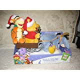 Disney 2007 Winnie The Pooh Tigger And Eeyore Sleigh Model# 10043 Ride Plays Up On The Housetop & Here Comes Santa...