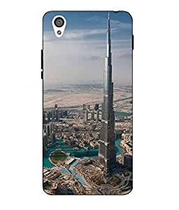Case Cover Burj khalifa Printed Multicolor Hard Back Cover For One Plus X