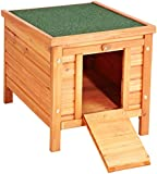 VivaPet Rabbit / Cat / Dog / Puppy / Guinea /Small Animal Wooden Hide House / Run / Hutch, 50cm (W) x 43cm (D) x 46cm (H), to use by itself or use with Metal Rabbit Run, Cage, Playpen, Pen, Enclosure
