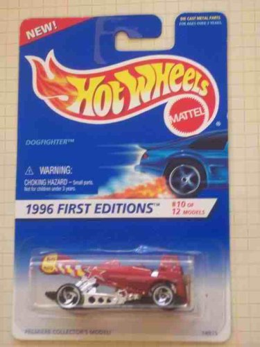 1996 -#10 Dogfighter Razor Wheels #375 Collectible Collector Car Mattel Hot Wheels 1996 First Editions 1:64 Scale