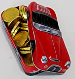 Christmas Red & Black Car Filled with Gold Chocolate Coins