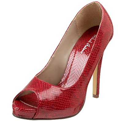 Michael Antonio Women's Kriss Peep-Toe Pump,Red,6.5 M US