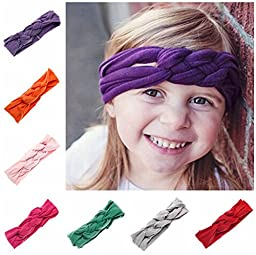 12 Pack Baby\'s Girls Headband Boho Elastic Knot Criss Cross Cute Hair Bows Newborn Head Wrap Hair Band Headwrap