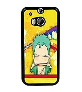 PrintDhaba Cartoon D-5105 Back Case Cover for HTC ONE M8 (Multi-Coloured)