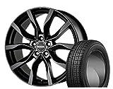[225/45R18]TOYO / GARIT G5 スタッドレス [MAK / KOLN (MBK) 18インチ] スタッドレス&ホイール4本セット レクサスHS(10系)、クラウン(210/200/180系 ※4ポットキャリパー車適合注意)、マークXジオ(10系)、スカイラインクーペ(V35系 ノーマルキャリパー車のみ適合 ※商品は前後同サイズになります)、フェアレディZ(Z33系 ブレンボ装着車除く ※商品は前後同サイズになります)