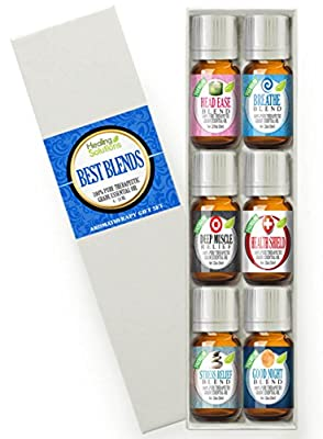 Best Blends Set of Essential Oil - 100% Pure - Popular Blends of Essential Oils