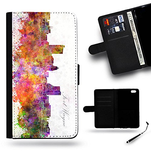 Smart Phone Case Accessory # Leather Cover Protective Case Wallet Case for Samsung Galaxy Note 3 N9000 // Fort Wayne IN indiana city Skyline watercolor (Halloween City Fort Wayne)