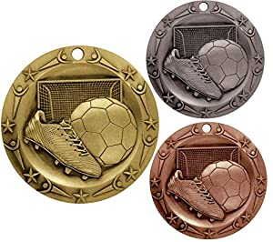 Decade Awards Gold Silver Bronze Softball World Class Medal 3 Wide Strong Metal Comes Exclusive Stars /& Stripes American Flag V Neck Ribbon