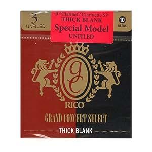 リード グランドコンサートセレクト シックブランク Bbクラリネット アンファイルド 硬さ:3(10枚入)