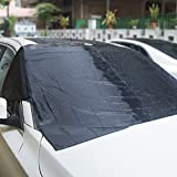 Autofay Premium Windshield Snow Cover - Sizes for ALL Vehicles - Covers Wipers - Snow, Ice, Frost Guard - No More Scraping! - Door Flaps - Windproof Magnetic Edges (Large)